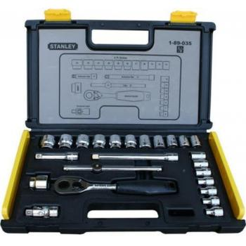 89-035 Stanley 24 Pcs 3/8 Drive Metric Socket Set