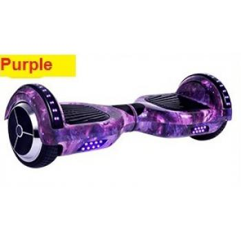 (Pre-Order) Balance Scooter 6.5 Inch (for 15kg-100kg) with Bluetooth and Shining Roller - Purple